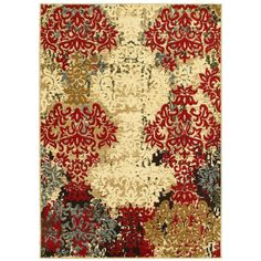 LNR Home Grace LR81129 Red Rug (7'6 x 9'6)