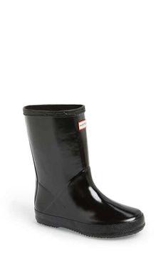 Hunter 'First Gloss' Rain Boot (Walker, Toddler & Little Kid)