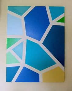 Custom Geometric Canvas Art by 9Red | Hatch.co