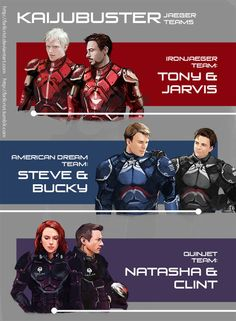 Avengers/Pacific Rim. This is possibly the best thing ever