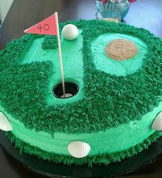 40th Birthday Golf Cake. Except this will be 5th birthday golf cake :) @Elinor Morris Morris Jackson