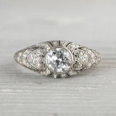 Image of .80 Carat Vintage Engagement Ring