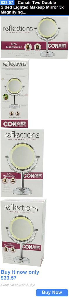 Makeup Mirrors: Conair Two Double Sided Lighted Makeup Mirror 5X Magnifying Make Up Mascara New BUY IT NOW ONLY: $33.57