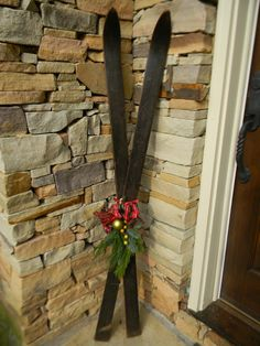 Christmas decorating with skis - Bing Images