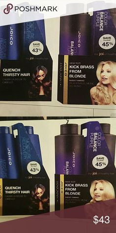 Violet Shampoo Duo or Moisture Recovery Duo Violet Shampoo kick Brass from hairor Moisture Recovery Duo. Pick either duo. Each duo comes with a Liter Shampoo and Liter Conditioner. Sale Ends Jan 31st. joico Other