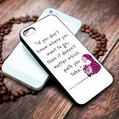 Alice in Wonderland quote   Disney   Movie   custom case for iphone 4/4s 5 5s 5c 6 6plus case and samsung galaxy s3 s4 s5 s6 case - RSBLVD