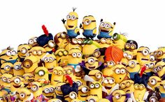 Download wallpapers Minions, funny characters, 3d-animation, Despicable Me