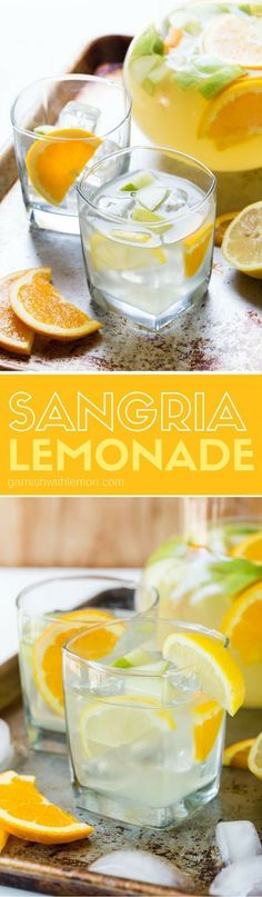 Easy Sangria Lemonade is a a refreshing batch cocktail recipe that is just what #cocktailrecipes