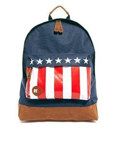 Mi Pac US Flag Pocket Backpack