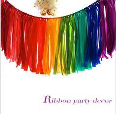 35 cm * 1 m de Casamento de Aniversário do chuveiro de bebê para casa ou Decoração do partido fita artesanal cortina guirlanda