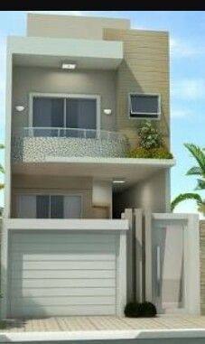 Our Top 10 Modern house designs – Modern Home Duplex House Design, House Front Design, Small House Design, Modern House Design, Small House Plans, House Floor Plans, Modern House Facades, House Elevation, Facade House