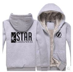 The Flash zip up hoodies for men winter fleece hoodie