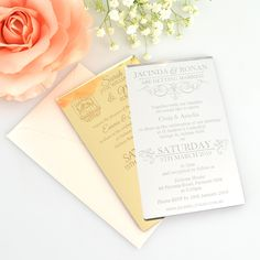 Clear acrylic die cut wedding invitations for elegant wedding favors 11b engraved acrylic wedding invitations stopboris Gallery