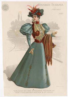 REGINA ACT III OR II. Women 1897-1899, Plate 002 :: Costume Institute Fashion Plates