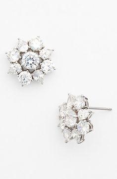 Nadri 'Flores' Stud Earrings available at & go with my flower belt! Diamond Hoop Earrings, Women's Earrings, Diamond Jewelry, Jewelry Accessories, Jewelry Design, Bridal Accessories, Diamond Tops, Fashion Jewelry, Women Jewelry