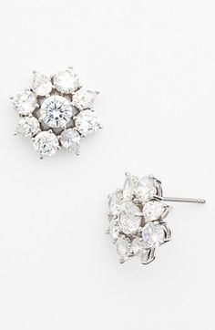 Nadri 'Flores' Stud Earrings available at #Nordstrom...Pretty & go with my flower belt!