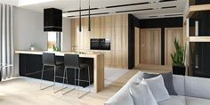 Find home projects from professionals for ideas & inspiration. Projekt domu HomeKONCEPT 27 by HomeKONCEPT Contemporary House Plans, Modern House Design, Village House Design, Beautiful House Plans, Modern Fireplace, Black Decor, Living Room Interior, Home Fashion, Home Projects