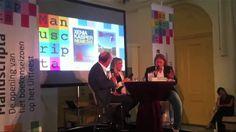 Marjon Kok en Theo Hakkert interviewen schrijvers op Manuscripta