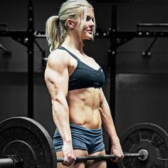 POWERFUL PHYSIQUE of blonde muscle babe, Crossfit athlete & #Fitness model Brooke Ence : if you LOVE Health, Workouts & #Inspirational Body Goals - you'll LOVE the #Motivational designs at CageCult Fashion: http://cagecult.com/mma