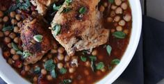 Crock Pot Chicken and Chickpea Stew with Tomatoes | KitchenDaily.com