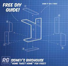 Free pallet birdhouse DIY! Simple.