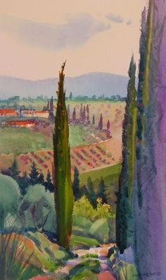 Italian Paintings: September 1 - December 2004 A few 2004 Italian Paintings by Stephen Quiller are still available for purchase, and they are listed first. Italian Paintings, Villa, Landscape, Art, Art Background, Scenery, Kunst, Performing Arts, Fork