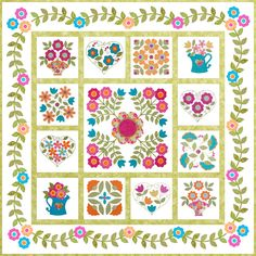 Be Happy Quilt pattern by Erin Russek. How generous of her to provide this free pattern.  ( saved in my downloads)