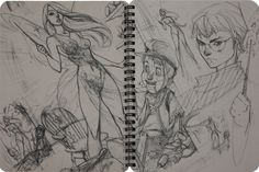 Comic books, movies, games blog everything related to fiction source Presented by LEAGUE OF FICTION: J. Jeff Scott Campbell Rough Stuff Sketchbook Vol 1