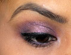 Bobbi Brown Sparkle Eyeshadow Silver Lilac Review Swatches EOTD