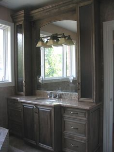 Raised panel doors, Bath cabinets by Adagio cabinets 847-480-6300