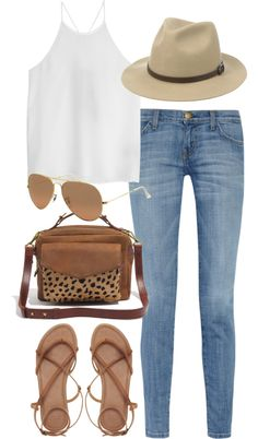 styleselection: Untitled by im-emma showing what to wear with brown handbags Summertime outfit goals meaning I'd have to be able to take time off to go out lol Mode Outfits, Casual Outfits, Spring Summer Fashion, Spring Outfits, Summer Outfit, Outfit Night, Summer Chic, Weekend Outfit, Summer Wear