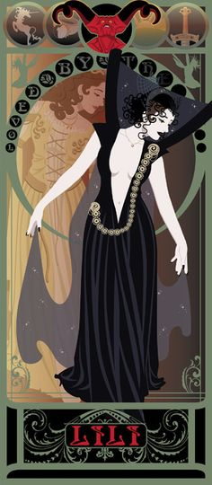 Art Nouveau Versions of Heroines From 80's And 90's Genre Movies - Dark Lili from Legend