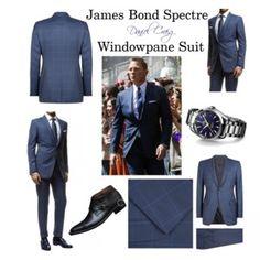 James Bond Spectre Windowpane Suit By Daniel Craig