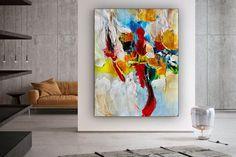 Large Office Wall Art Modern Abstract Art Abstract Painting image 1 Large Canvas Wall Art, Abstract Canvas Art, Oil Painting On Canvas, Office Wall Art, Office Decor, Oversized Wall Art, Modern Art, Contemporary, Shades