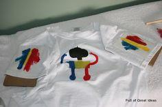 freezer paper stencil shirt