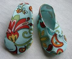 Baby and Toddler Kimono Shoes Sewing Pattern PDF
