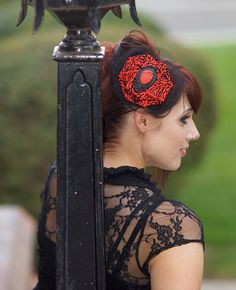 """Anatomical Heart Cameo Fascinator """"Vampire Heart"""" In Blood Red And Black -Gruesome Glamour For Halloween, Goth, Rockabilly or Pin Up Fashion. $19.99, via Etsy."""