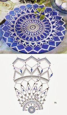 Kira scheme crochet: Scheme crochet no. Crochet Circles, Crochet Doily Patterns, Crochet Squares, Crochet Chart, Crochet Motif, Crochet Doilies, Crochet Round, Freeform Crochet, Thread Crochet