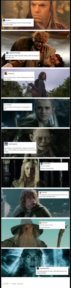 Lord of the Rings + text posts