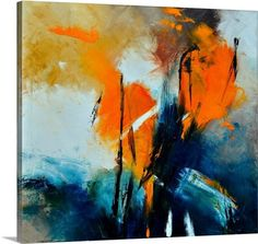 Blue and orange abstract art by Pol Ledent from Great BIG Canvas.