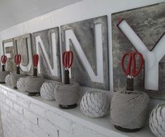 Spools of twine or string make great scissor holders.   51 Insanely Easy Ways To Transform Your Everyday Things