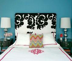 "Hollywood designer M. Design Interiors Kate Schintzius ""rock and roll"" bedroom."