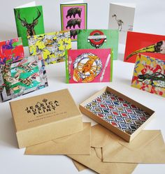 Box of Ten Limited Edition Cards & Envelopes: Mixed Designs
