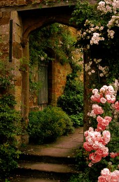 Roses Gardening Secret Garden Cottage Landscape/Yard - Found on Zillow Digs - The Secret Garden, Secret Gardens, Garden Cottage, Rose Cottage, Parcs, Garden Gates, Garden Entrance, Garden Archway, Walkway Garden