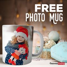 Want your face on a mug for free? Get a FREE photo mug on any order over $50 site-wide. Your face, someone else's, or any photo! Someone Elses, Free Photos, Elf On The Shelf, Photo Mugs, Holiday Decor, Canvas, Face, Home Decor, Tela