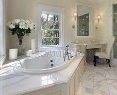 #Камень_Экспо_Холдинг, #тема_дня_мрамор #мрамор_в_интерьере, #белый_мрамор #дизайн_интерьер, #ванная #натуральный_камень #минералы_мрамор, #Calacatta_Gold Угловая Ванна, Ванная