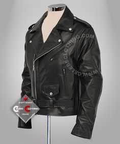 Bring in a fierce look with Arnold Schwarzenegger Terminator Real Terminator Real Leather rough and tough jacket  http://www.celebsclothing.com/products/Terminator-Real-Leather-Jacket-.html
