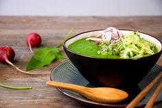Lalakitchen Sopa Fría de Pera y Espinacas con Fideos de Pepino