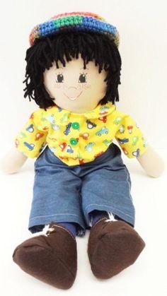 boy cloth rag doll cars and jeans handmade homemade ragdoll 147