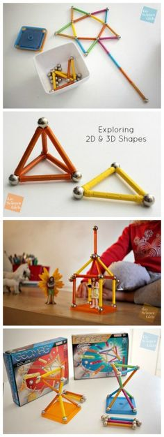 Review of Geomag Color and Geomag Glitter open-ended magnetic construction toys for girls